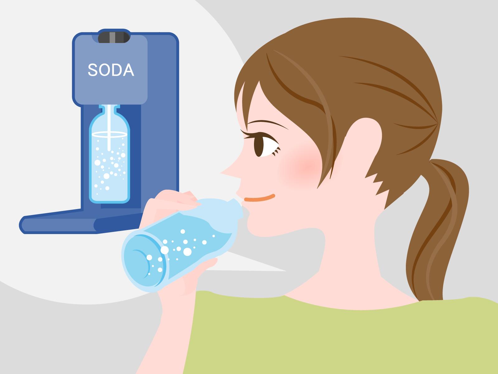 【炭酸水を飲み過ぎるとどうなる?】腹痛・胃痛・下痢などの影響が!?飲み過ぎ量も紹介